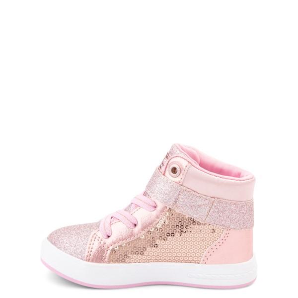 alternate view Skechers Shoutouts Steal The Runway Sneaker - Toddler - Rose GoldALT1