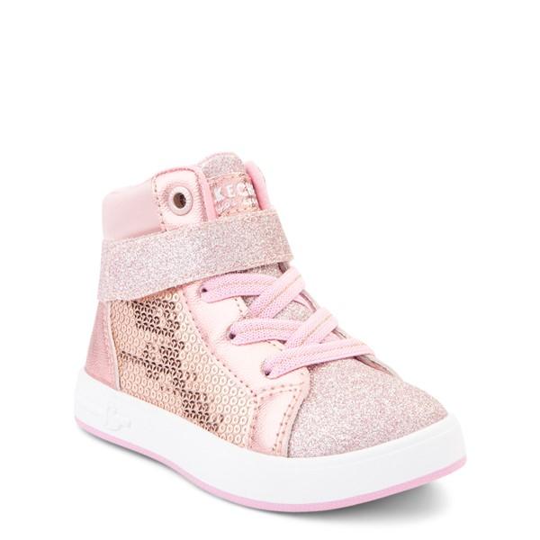 alternate view Skechers Shoutouts Steal The Runway Sneaker - Toddler - Rose GoldALT5