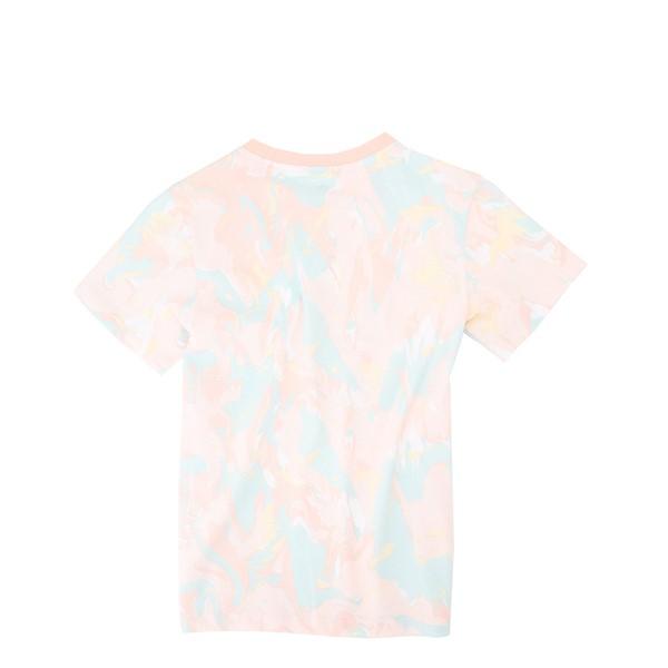 alternate view adidas Allover Print Marble Tee - Little Kid / Big Kid - Pink Tint / MulticolorALT1