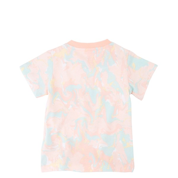 alternate view adidas Allover Print Marble Tee - Toddler - Pink Tint / MulticolorALT1
