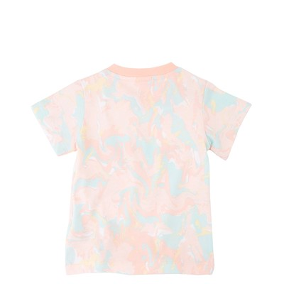 Alternate view of adidas Allover Print Marble Tee - Toddler - Pink Tint / Multicolor