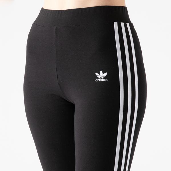 alternate view Womens adidas 3-Stripes Leggings - BlackALT1