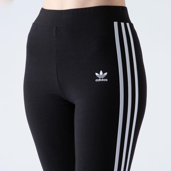 alternate view Womens adidas 3-Stripes Leggings - BlackALT1B
