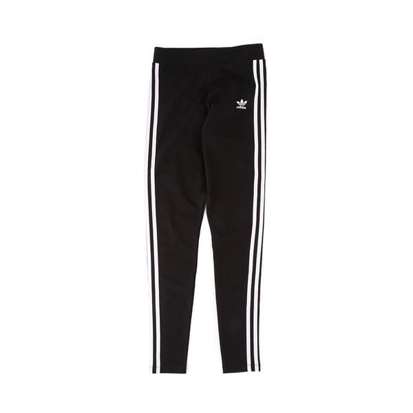 alternate view Womens adidas 3-Stripes Leggings - BlackALT2