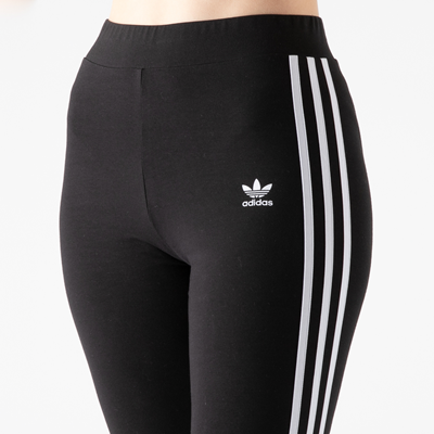Alternate view of Womens adidas 3-Stripes Leggings - Black