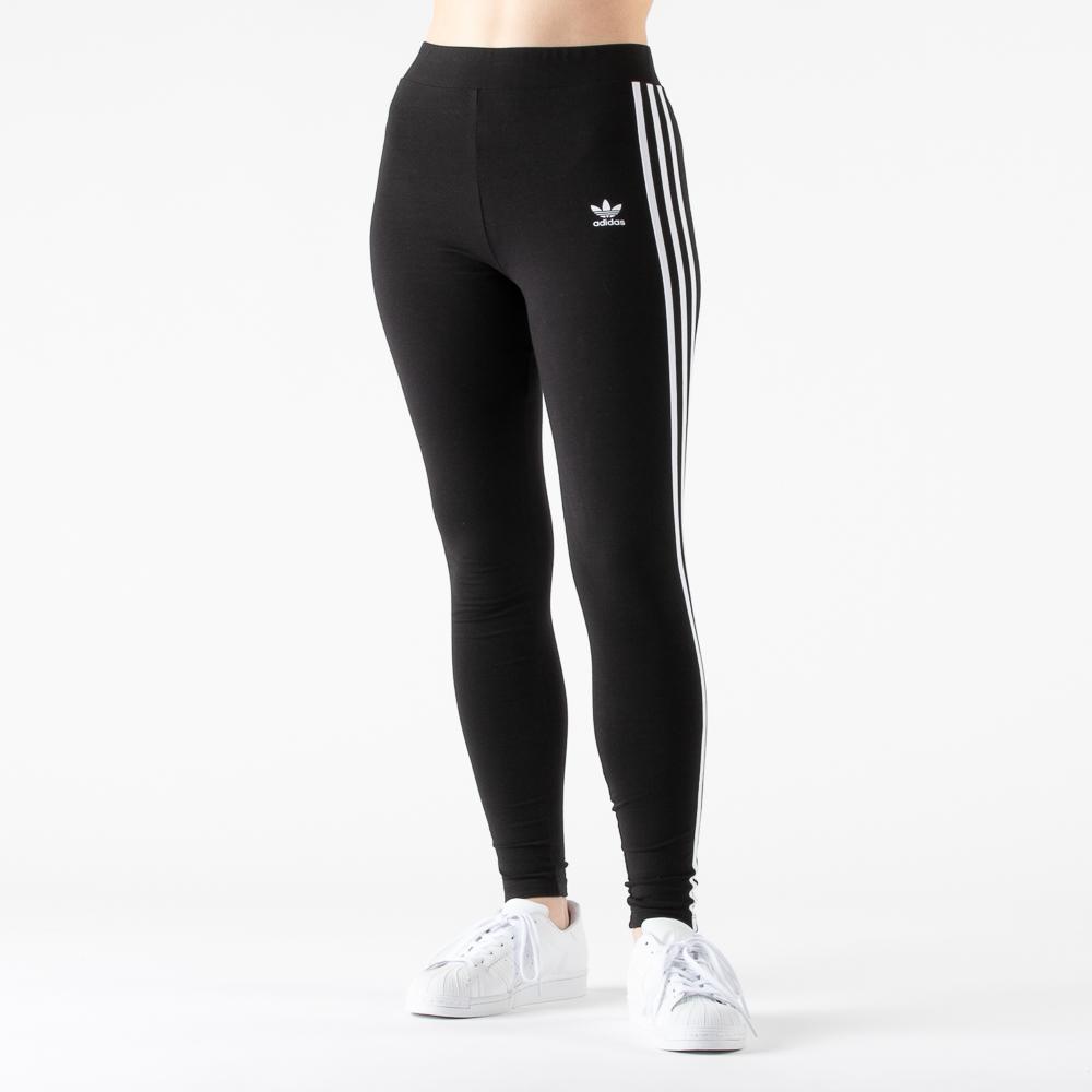 Womens adidas 3-Stripes Leggings - Black