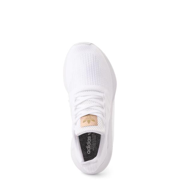 alternate view Womens adidas Swift Run Athletic Shoe - White MonochromeALT2