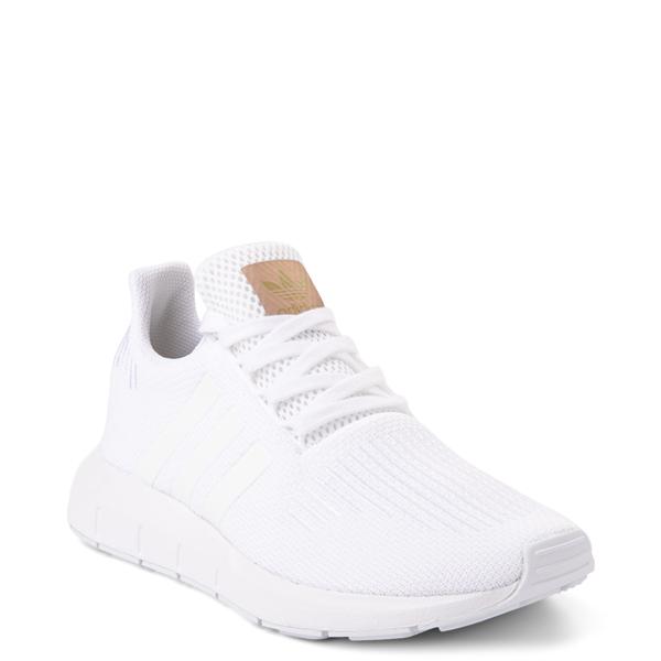 alternate view Womens adidas Swift Run Athletic Shoe - White MonochromeALT5