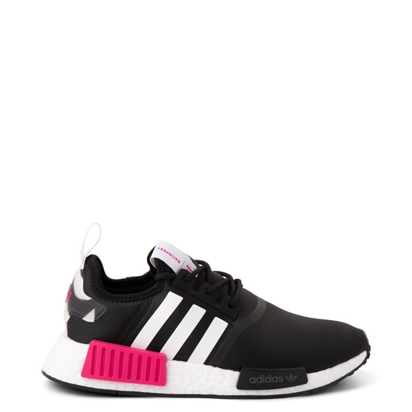 Main view of Womens adidas x Marimekko NMD R1 Athletic Shoe - Black / Magenta