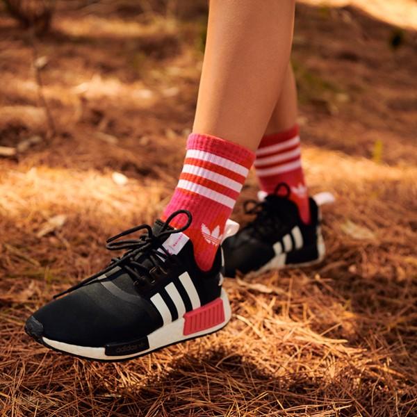 alternate view Womens adidas x Marimekko NMD R1 Athletic Shoe - Black / MagentaALT1B