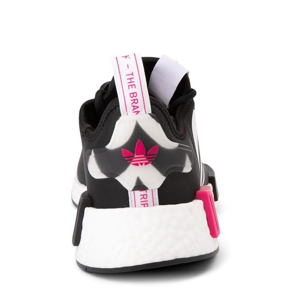 alternate view Womens adidas x Marimekko NMD R1 Athletic Shoe - Black / MagentaALT4