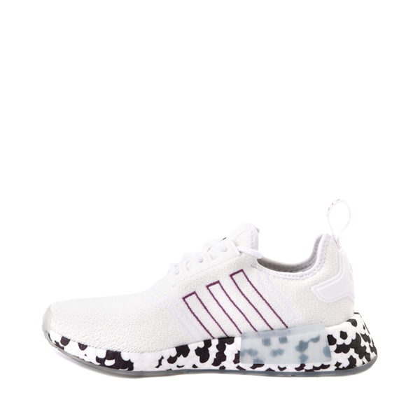 alternate view Womens adidas NMD R1 Speckle Athletic Shoe - White / Active PurpleALT1