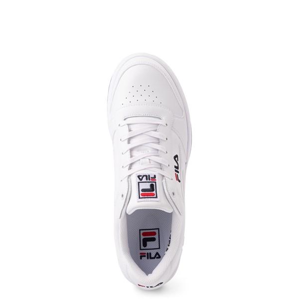 alternate view Mens Fila LNX 100 Athletic Shoe - White / Navy / RedALT2