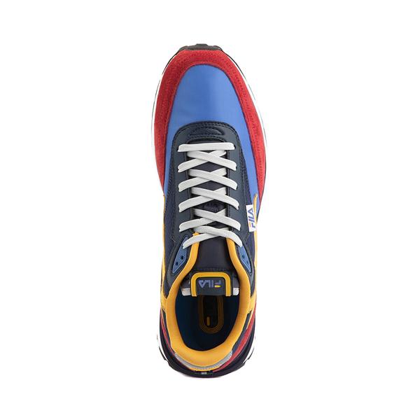alternate view Mens Fila Renno Athletic Shoe - Red / Blue / YellowALT2