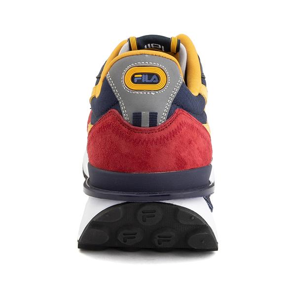alternate view Mens Fila Renno Athletic Shoe - Red / Blue / YellowALT4