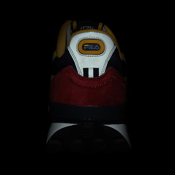 alternate view Mens Fila Renno Athletic Shoe - Red / Blue / YellowALT4B