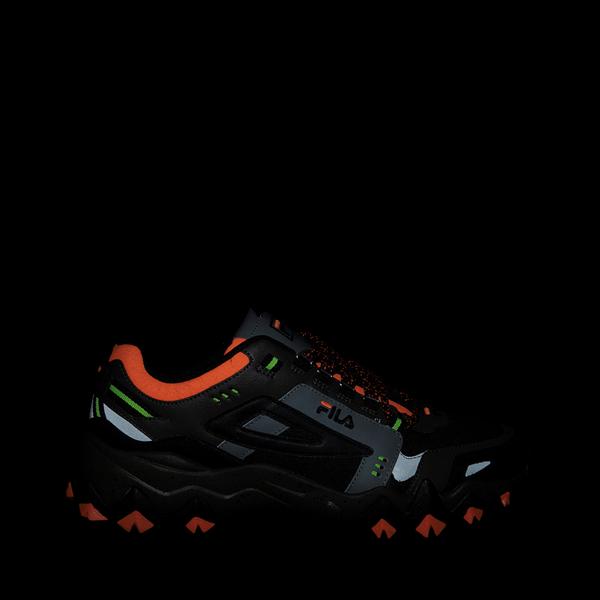 alternate view Mens Fila Oakmont TR Athletic Shoe - Olive / Black / OrangeALT1
