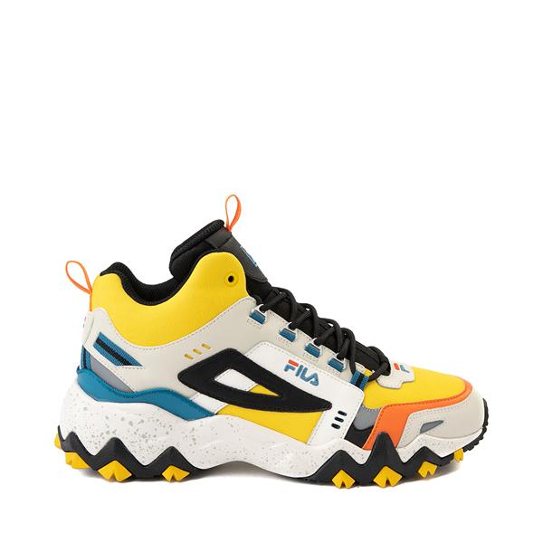 Mens Fila Oakmont TR Mid Athletic Shoe - Lemon / Gardenia / Orange
