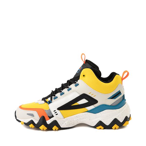alternate view Mens Fila Oakmont TR Mid Athletic Shoe - Lemon / Gardenia / OrangeALT1B