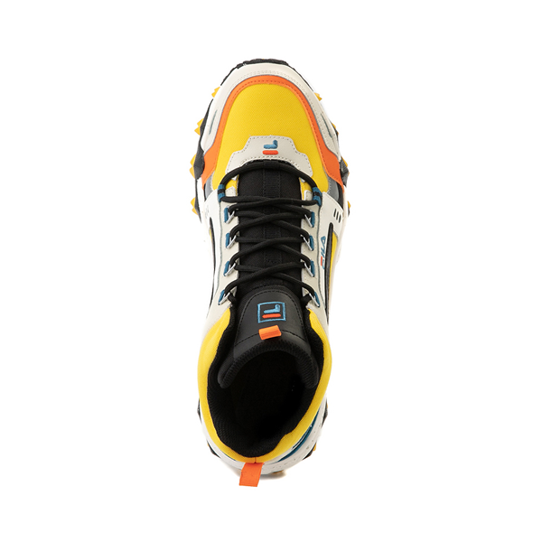 alternate view Mens Fila Oakmont TR Mid Athletic Shoe - Lemon / Gardenia / OrangeALT2