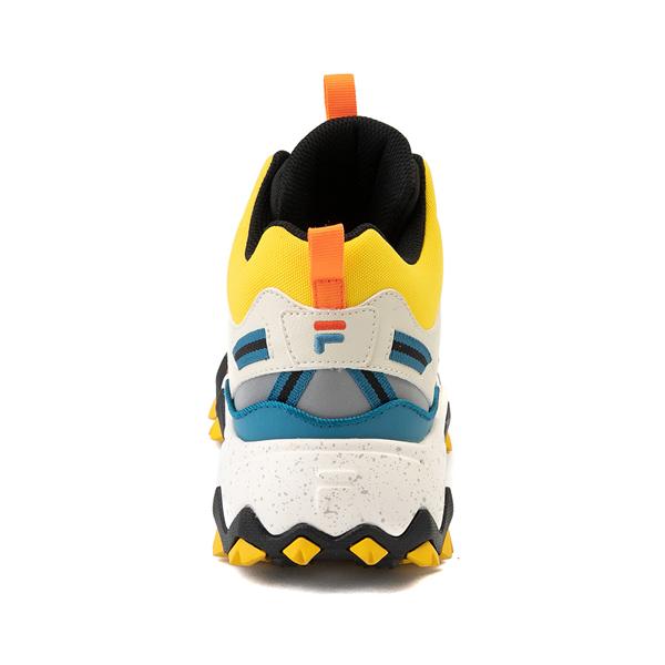alternate view Mens Fila Oakmont TR Mid Athletic Shoe - Lemon / Gardenia / OrangeALT4