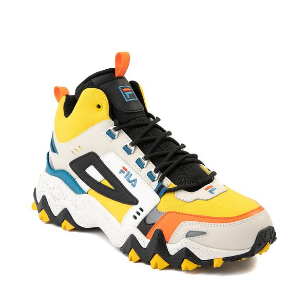 alternate view Mens Fila Oakmont TR Mid Athletic Shoe - Lemon / Gardenia / OrangeALT5