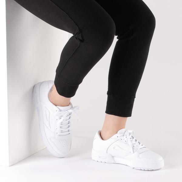 alternate view Womens Fila LNX 100 Athletic Shoe - White MonochromeB-LIFESTYLE1