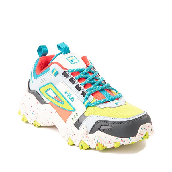 alternate view Womens Fila Oakmont TR Athletic Shoe - Silver Birch / Diva Pink / Lime PunchALT5