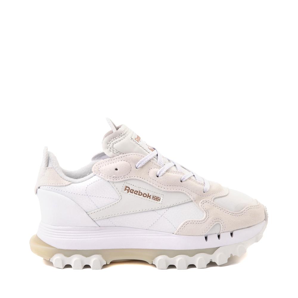 Womens Reebok x Cardi B Classic Leather Athletic Shoe - White