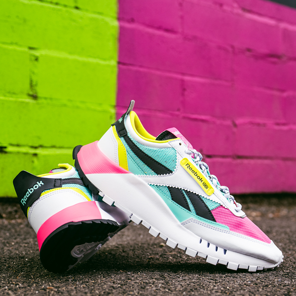 alternate view Womens Reebok Classic Legacy Athletic Shoe - White / Pink / MintALT1C
