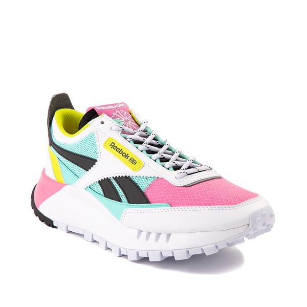 alternate view Womens Reebok Classic Legacy Athletic Shoe - White / Pink / MintALT5