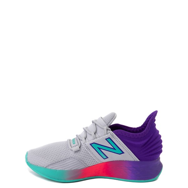 alternate view New Balance Fresh Foam Roav Athletic Shoe - Little Kid - Gray / MulticolorALT1