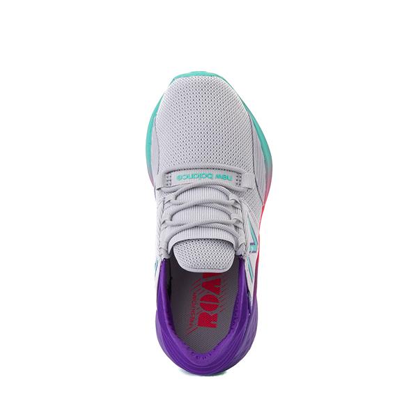 alternate view New Balance Fresh Foam Roav Athletic Shoe - Little Kid - Gray / MulticolorALT2