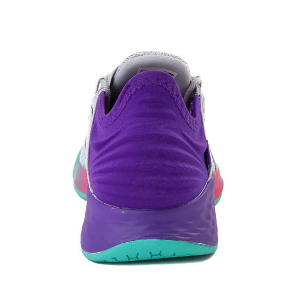alternate view New Balance Fresh Foam Roav Athletic Shoe - Little Kid - Gray / MulticolorALT4