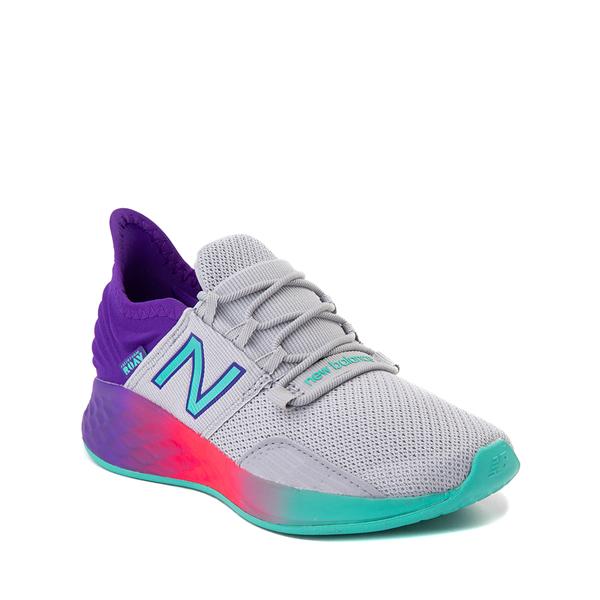 alternate view New Balance Fresh Foam Roav Athletic Shoe - Little Kid - Gray / MulticolorALT5