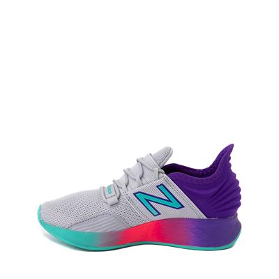 Alternate view of New Balance Fresh Foam Roav Athletic Shoe - Little Kid - Gray / Multicolor
