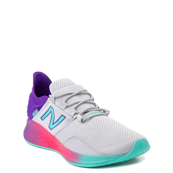alternate view New Balance Fresh Foam Roav Athletic Shoe - Big Kid - Gray / MulticolorALT5