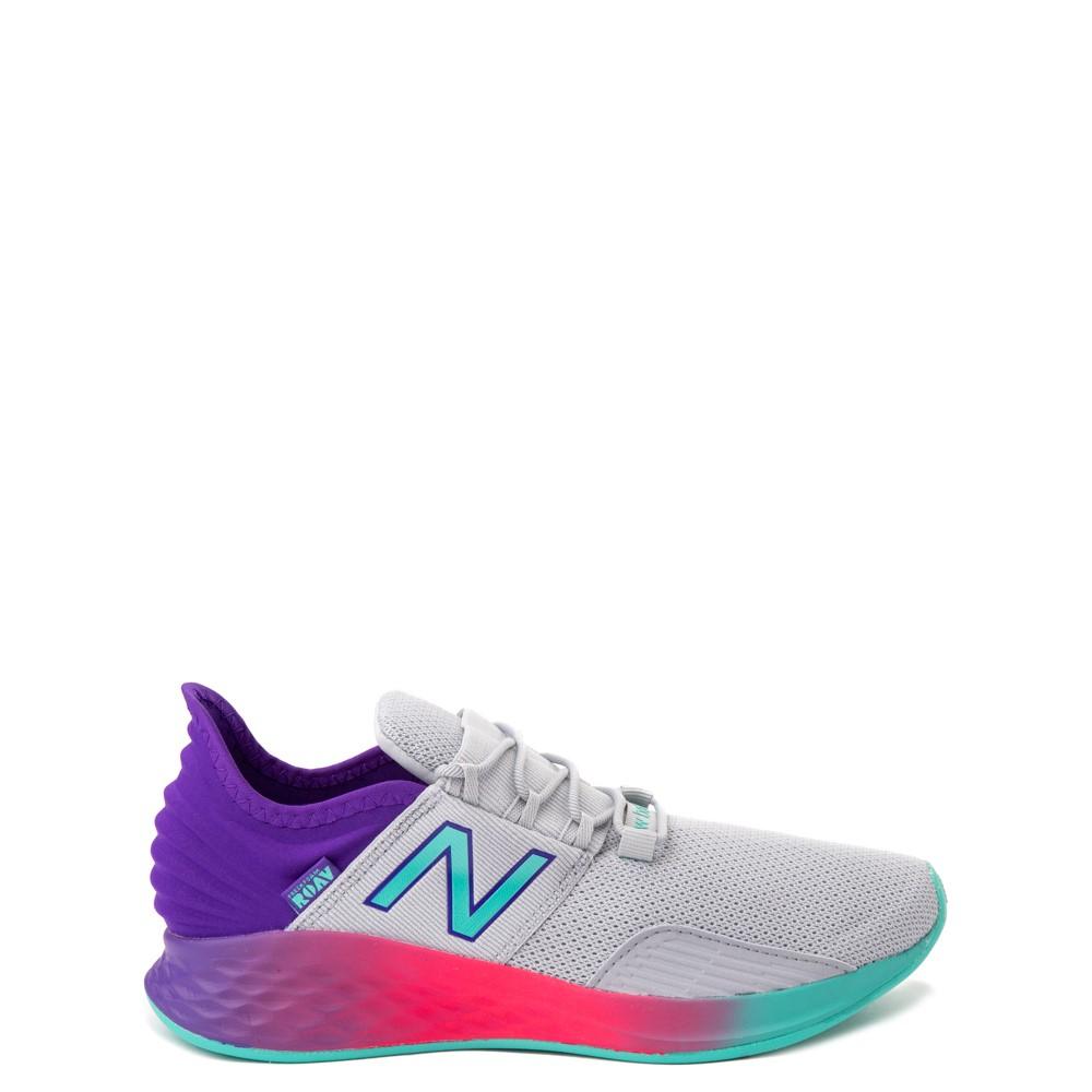 New Balance Fresh Foam Roav Athletic Shoe - Big Kid - Gray / Multicolor