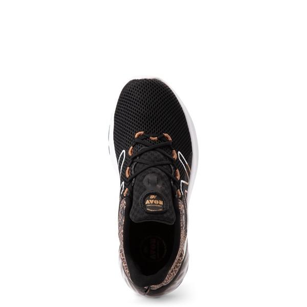 alternate view New Balance Fresh Foam Roav Athletic Shoe - Little Kid - Black / LeopardALT2