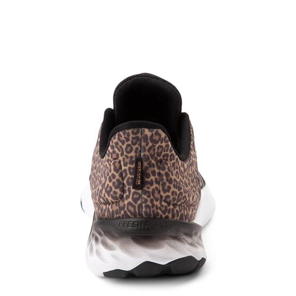 alternate view New Balance Fresh Foam Roav Athletic Shoe - Little Kid - Black / LeopardALT4
