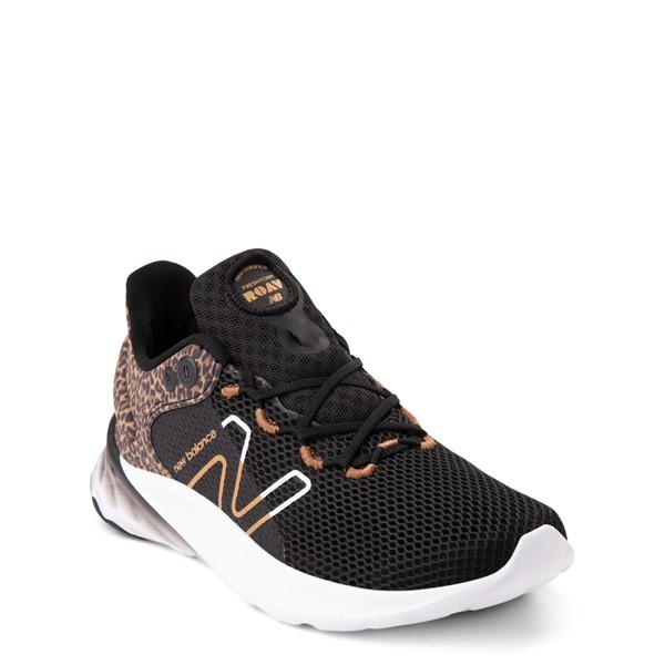 alternate view New Balance Fresh Foam Roav Athletic Shoe - Little Kid - Black / LeopardALT5