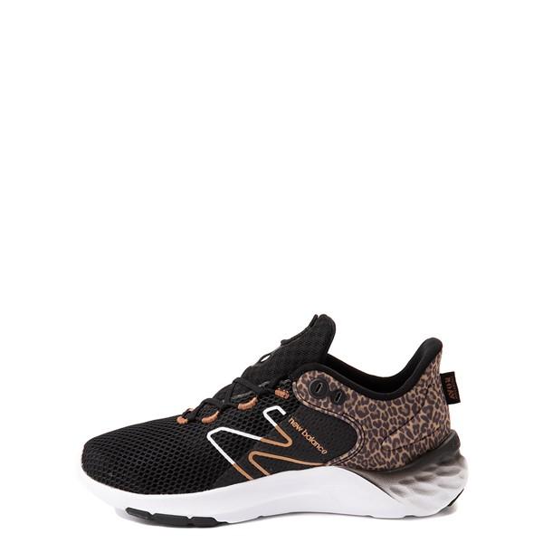 alternate view New Balance Fresh Foam Roav Athletic Shoe - Big Kid - Black / LeopardALT1