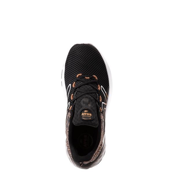 alternate view New Balance Fresh Foam Roav Athletic Shoe - Big Kid - Black / LeopardALT2