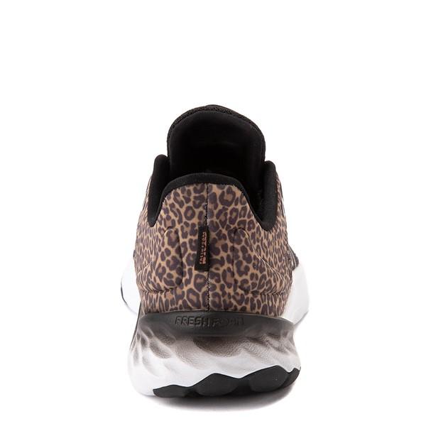 alternate view New Balance Fresh Foam Roav Athletic Shoe - Big Kid - Black / LeopardALT4