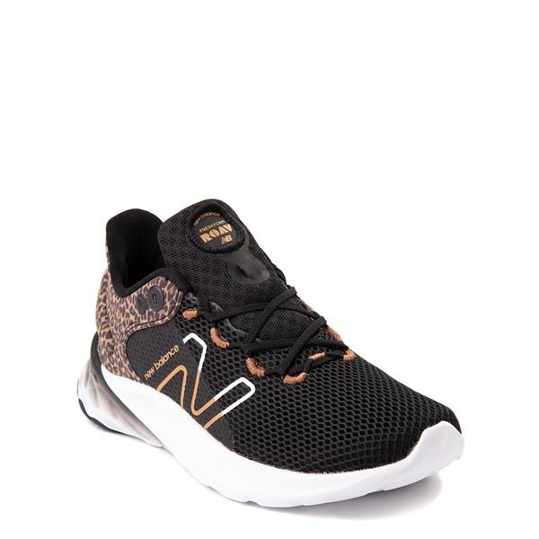 alternate view New Balance Fresh Foam Roav Athletic Shoe - Big Kid - Black / LeopardALT5
