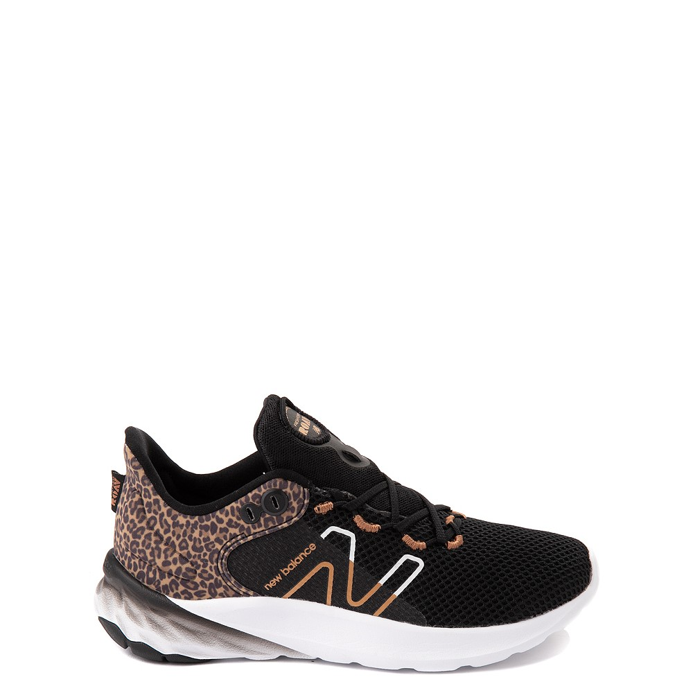 New Balance Fresh Foam Roav Athletic Shoe - Big Kid - Black / Leopard