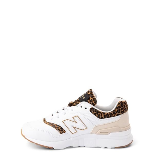alternate view New Balance 997H Athletic Shoe - Little Kid - White / LeopardALT1