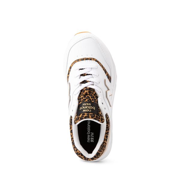 alternate view New Balance 997H Athletic Shoe - Little Kid - White / LeopardALT2