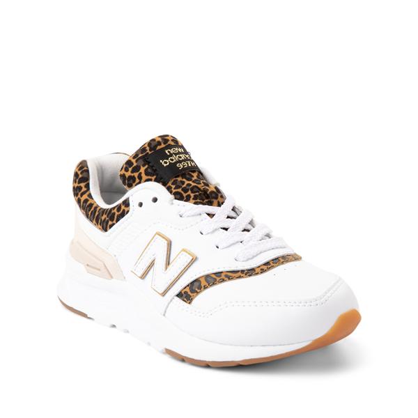 alternate view New Balance 997H Athletic Shoe - Little Kid - White / LeopardALT5