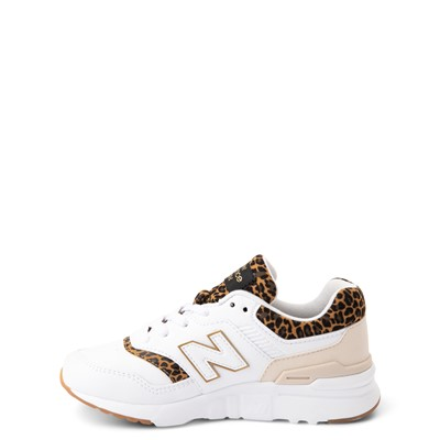 Alternate view of New Balance 997H Athletic Shoe - Little Kid - White / Leopard